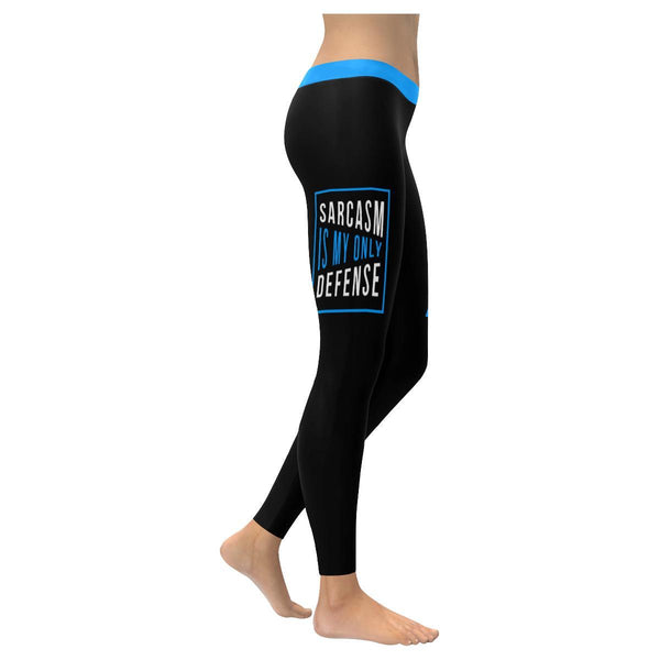 Sarcasm Is My Only Defense Soft Leggings For Women Cute Funny Sarcastic Gifts-XXS-Black-JoyHip.Com
