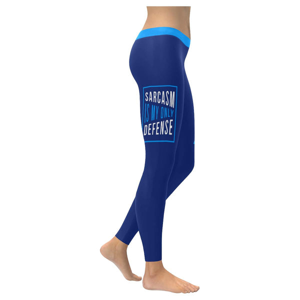 Sarcasm Is My Only Defense Soft Leggings For Women Cute Funny Sarcastic Gifts-XXS-Navy-JoyHip.Com