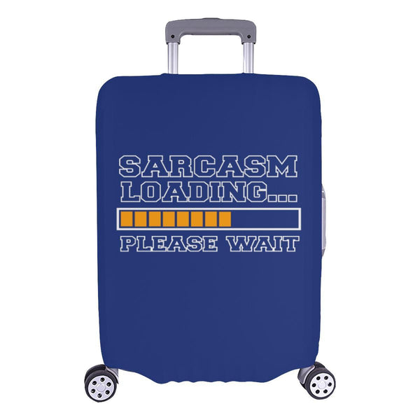 Sarcasm Loading Please Wait Sarcastic Travel Luggage Cover Suitcase Protector-L-Navy-JoyHip.Com