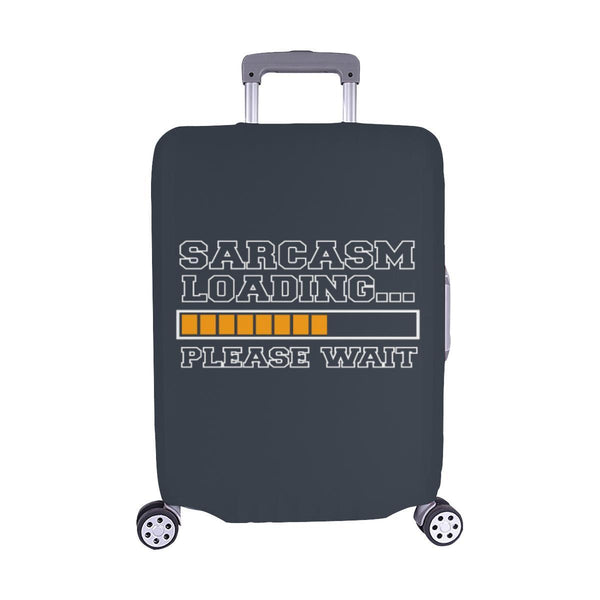 Sarcasm Loading Please Wait Sarcastic Travel Luggage Cover Suitcase Protector-M-Grey-JoyHip.Com