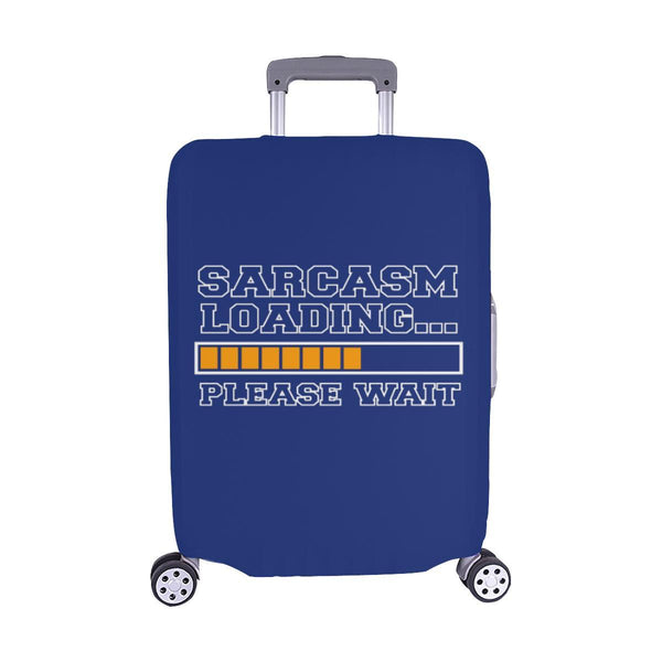 Sarcasm Loading Please Wait Sarcastic Travel Luggage Cover Suitcase Protector-M-Navy-JoyHip.Com