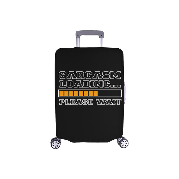 Sarcasm Loading Please Wait Sarcastic Travel Luggage Cover Suitcase Protector-S-Black-JoyHip.Com