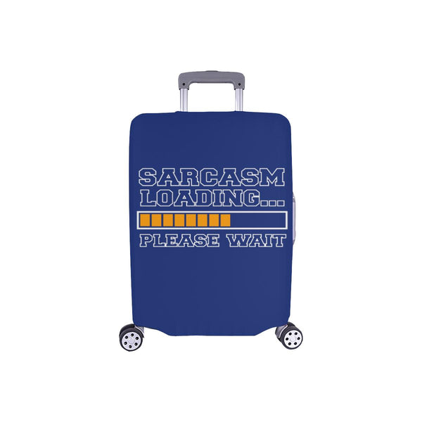 Sarcasm Loading Please Wait Sarcastic Travel Luggage Cover Suitcase Protector-S-Navy-JoyHip.Com