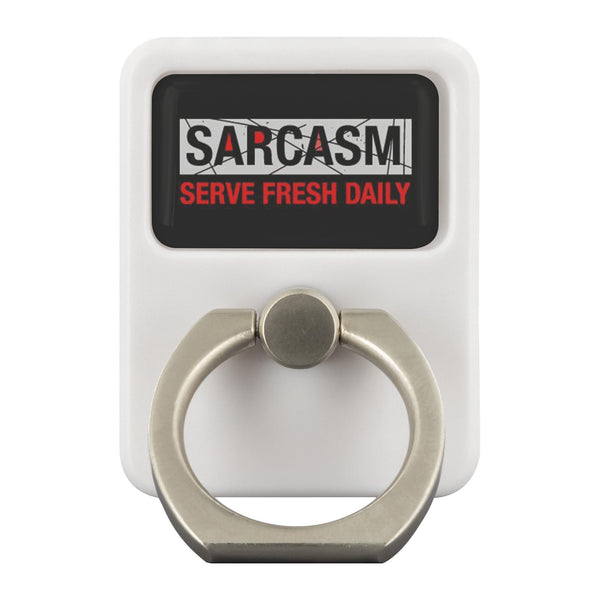 Sarcasm Serve Fresh Daily Funny Sarcastic Phone Ring Holder Kickstand Gift Ideas-Ringr - Multi-Tool Accessory-Ringr - Multi-Tool Accessory-JoyHip.Com