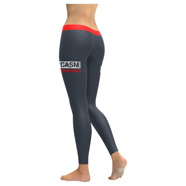 Sarcasm Serve Fresh Daily Soft Leggings For Women Cool Cute Funny Sarcastic Gift-JoyHip.Com