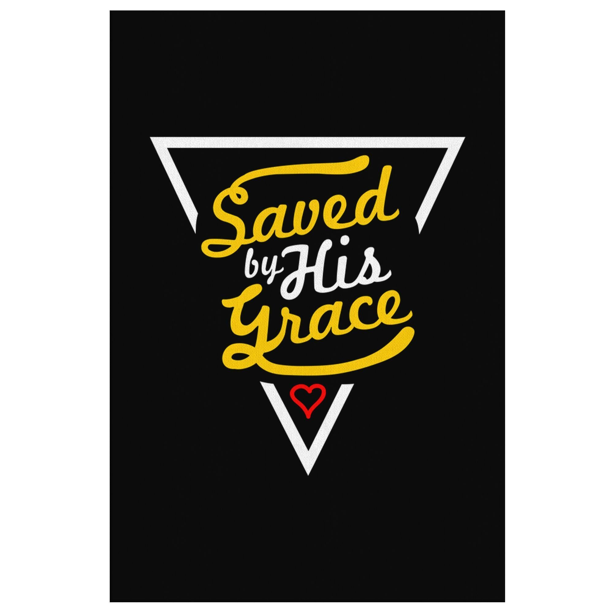 Saved By His Grace Christian Canvas Wall Art Room Decor Gift Ideas Religious-Canvas Wall Art 2-8 x 12-JoyHip.Com