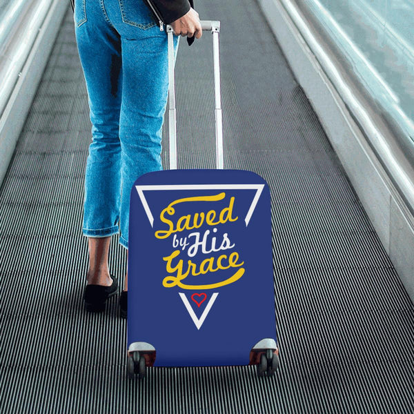 "Saved By His Grace Christian Travel Luggage Cover Suitcase Protector Fit 18""-28""-JoyHip.Com"
