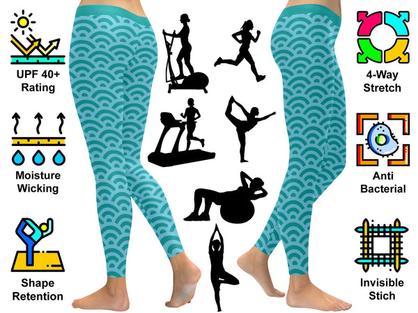 Saved By His Grace Funny Christian Jesus Faith Religious UPF40+ Womens Leggings-JoyHip.Com