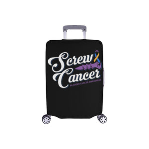 Screw Cancer Bladder Cancer Awareness Travel Luggage Cover Suitcase Protector-S-Black-JoyHip.Com