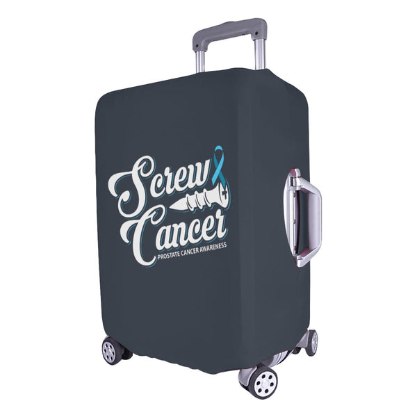 "Screw Prostate Cancer Travel Luggage Cover Suitcase Protector 18""-28"" Baggage-JoyHip.Com"