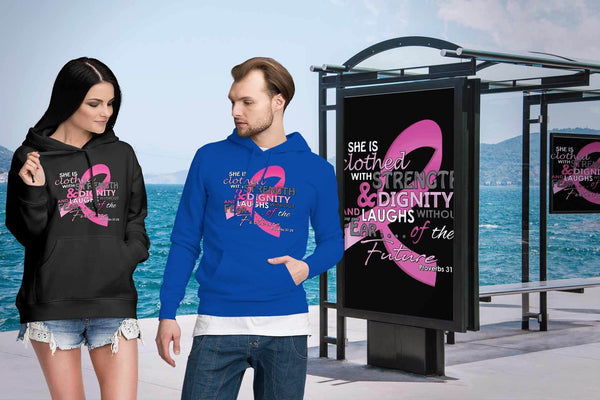 She Is Clothed With Strength Dignity Without Fear Proverbs 31:25 Classic Hoodie-T-shirt-JoyHip.Com