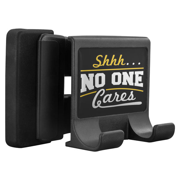 Shhh No One Cares Funny Sarcastic Cell Phone Monitor Holder For Laptop Desktop-Moniclip-Moniclip-JoyHip.Com