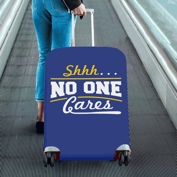 "Shhh No One Cares Sarcastic Travel Luggage Cover Suitcase Protector 18""-28""-JoyHip.Com"