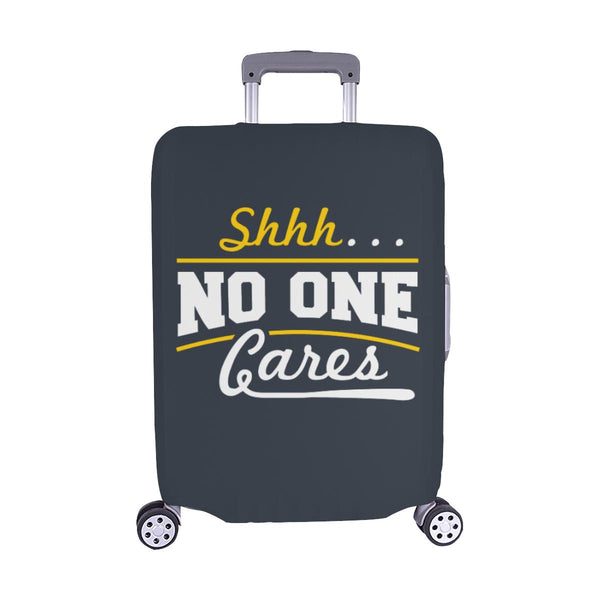 "Shhh No One Cares Sarcastic Travel Luggage Cover Suitcase Protector 18""-28""-M-Grey-JoyHip.Com"