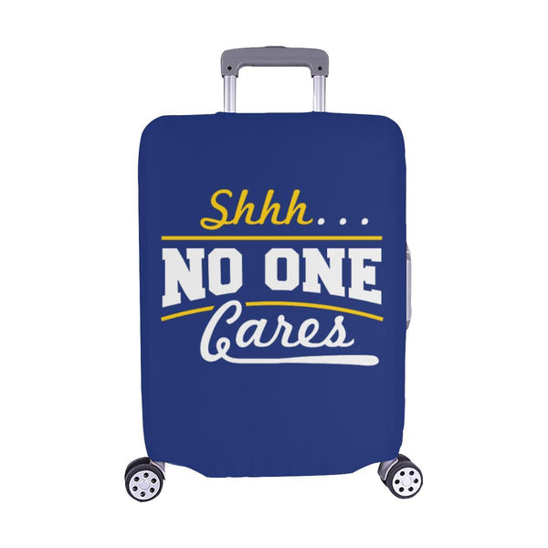 "Shhh No One Cares Sarcastic Travel Luggage Cover Suitcase Protector 18""-28""-M-Navy-JoyHip.Com"