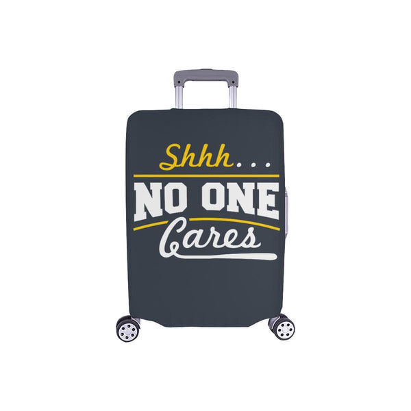 "Shhh No One Cares Sarcastic Travel Luggage Cover Suitcase Protector 18""-28""-S-Grey-JoyHip.Com"