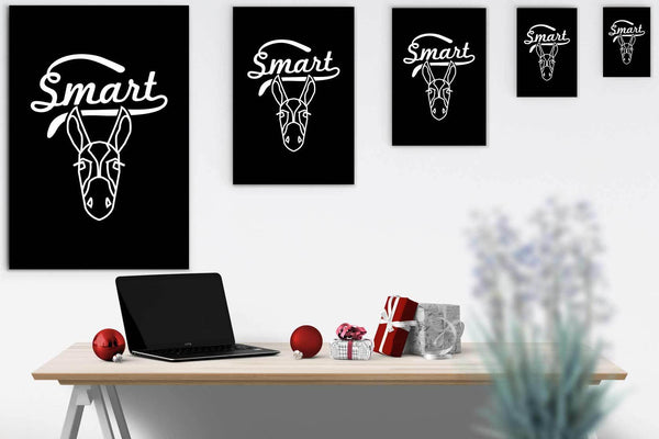 Smart Ass Sarcasm Canvas Wall Art Room Decor Funny Sarcastic Gift Ideas-Canvas Wall Art 2-JoyHip.Com