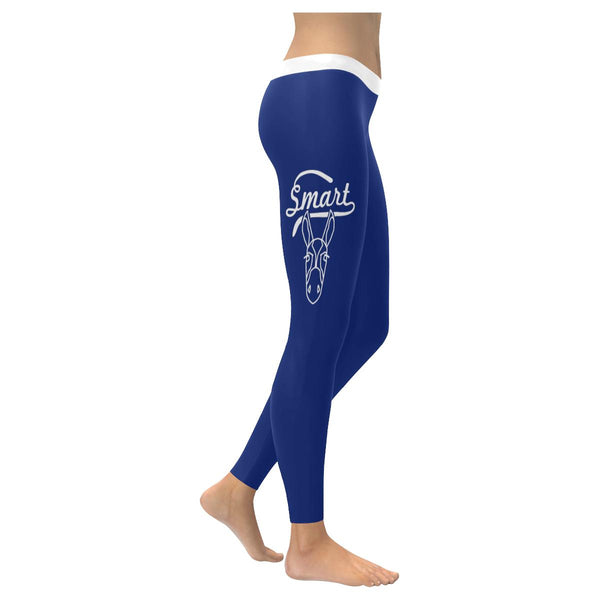 Smart Ass Sarcasm Soft Leggings For Women Cool Cute Funny Sarcastic Gifts-XXS-Navy-JoyHip.Com
