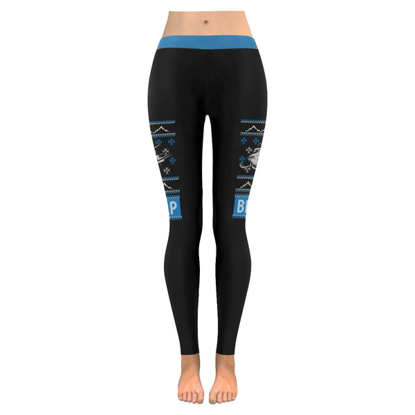 Snowmobile Braaap Outdoor Awesome Funny Gift Idea Ugly Christmas Womens Leggings-JoyHip.Com