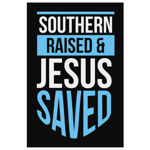 Southern Raised Jesus Saved Christian Canvas Wall Art Room Decor Gift Religious-Canvas Wall Art 2-8 x 12-JoyHip.Com