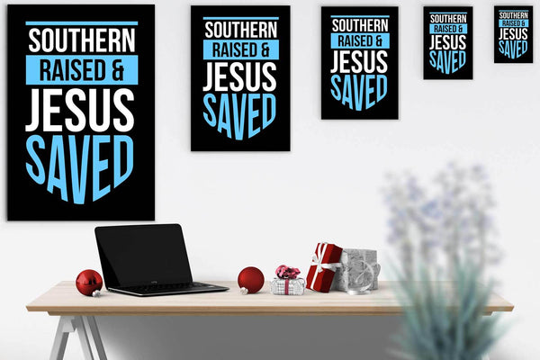 Southern Raised Jesus Saved Christian Canvas Wall Art Room Decor Gift Religious-Canvas Wall Art 2-JoyHip.Com
