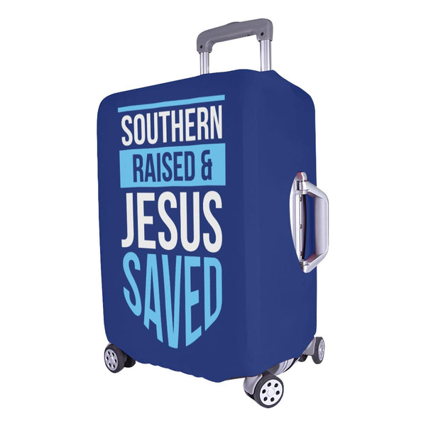 Southern Raised & Jesus Saved Christian Travel Luggage Cover Suitcase Protector-JoyHip.Com