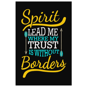 Spirit Lead Me Where My Trust Is Without Borders Christian Canvas Wall Art Room-Canvas Wall Art 2-8 x 12-JoyHip.Com