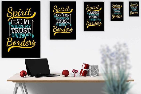 Spirit Lead Me Where My Trust Is Without Borders Christian Canvas Wall Art Room-Canvas Wall Art 2-JoyHip.Com