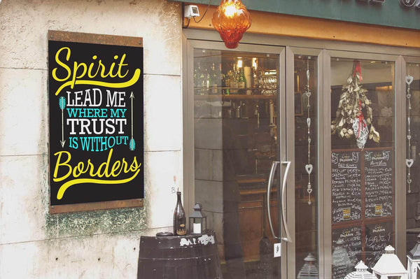 Spirit Lead Me Where My Trust Is Without Borders Christian Poster Wall Art Room-Posters 2-JoyHip.Com