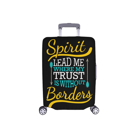 Spirit Lead Me Where My Trust Is Without Borders Christian Travel Luggage Cover-S-Black-JoyHip.Com