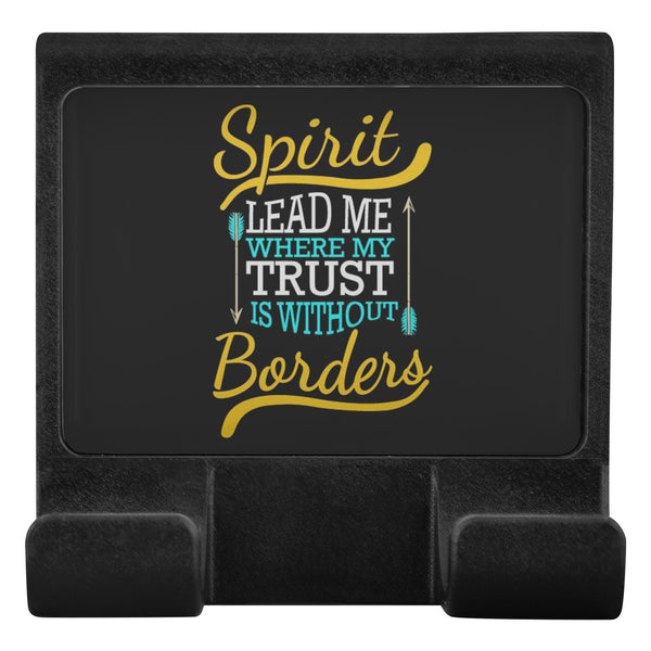 Spirit Lead Me Where Trust Is Without Border Christian Cell Phone Monitor Holder-Moniclip-Moniclip-JoyHip.Com