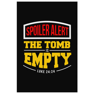 Spoiler Alert The Tomb Is Empty Luke 24:24 Christian Canvas Wall Art Room Decor-Canvas Wall Art 2-8 x 12-JoyHip.Com