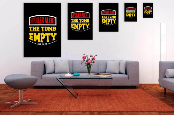 Spoiler Alert The Tomb Is Empty Luke 24:24 Christian Canvas Wall Art Room Decor-Canvas Wall Art 2-JoyHip.Com