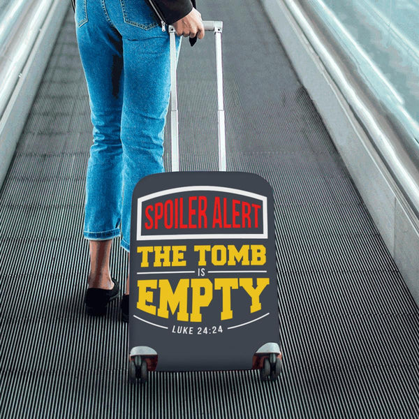 Spoiler Alert Tomb Is Empty Luke 24:24 Christian Travel Luggage Cover Suitcase-JoyHip.Com