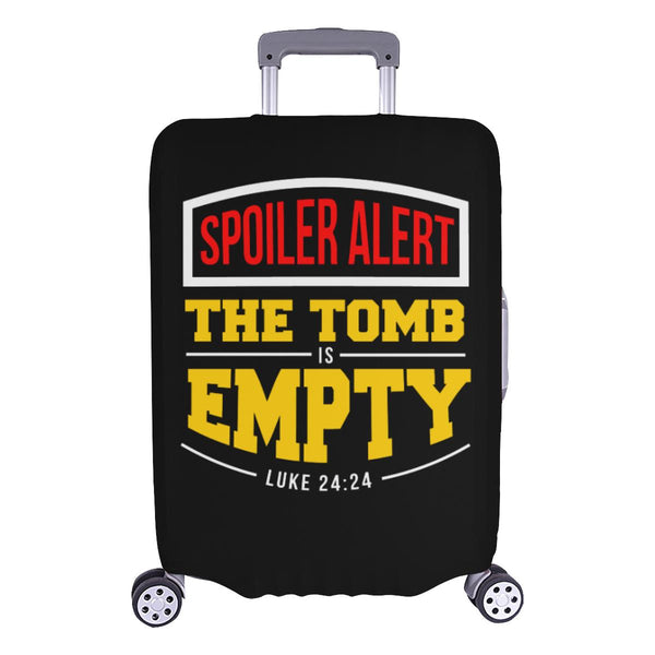 Spoiler Alert Tomb Is Empty Luke 24:24 Christian Travel Luggage Cover Suitcase-L-Black-JoyHip.Com