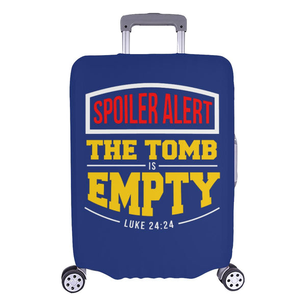 Spoiler Alert Tomb Is Empty Luke 24:24 Christian Travel Luggage Cover Suitcase-L-Navy-JoyHip.Com