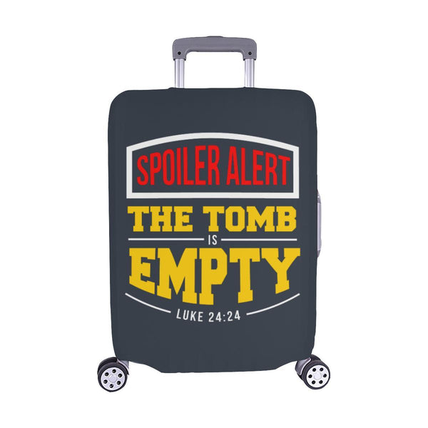 Spoiler Alert Tomb Is Empty Luke 24:24 Christian Travel Luggage Cover Suitcase-M-Grey-JoyHip.Com