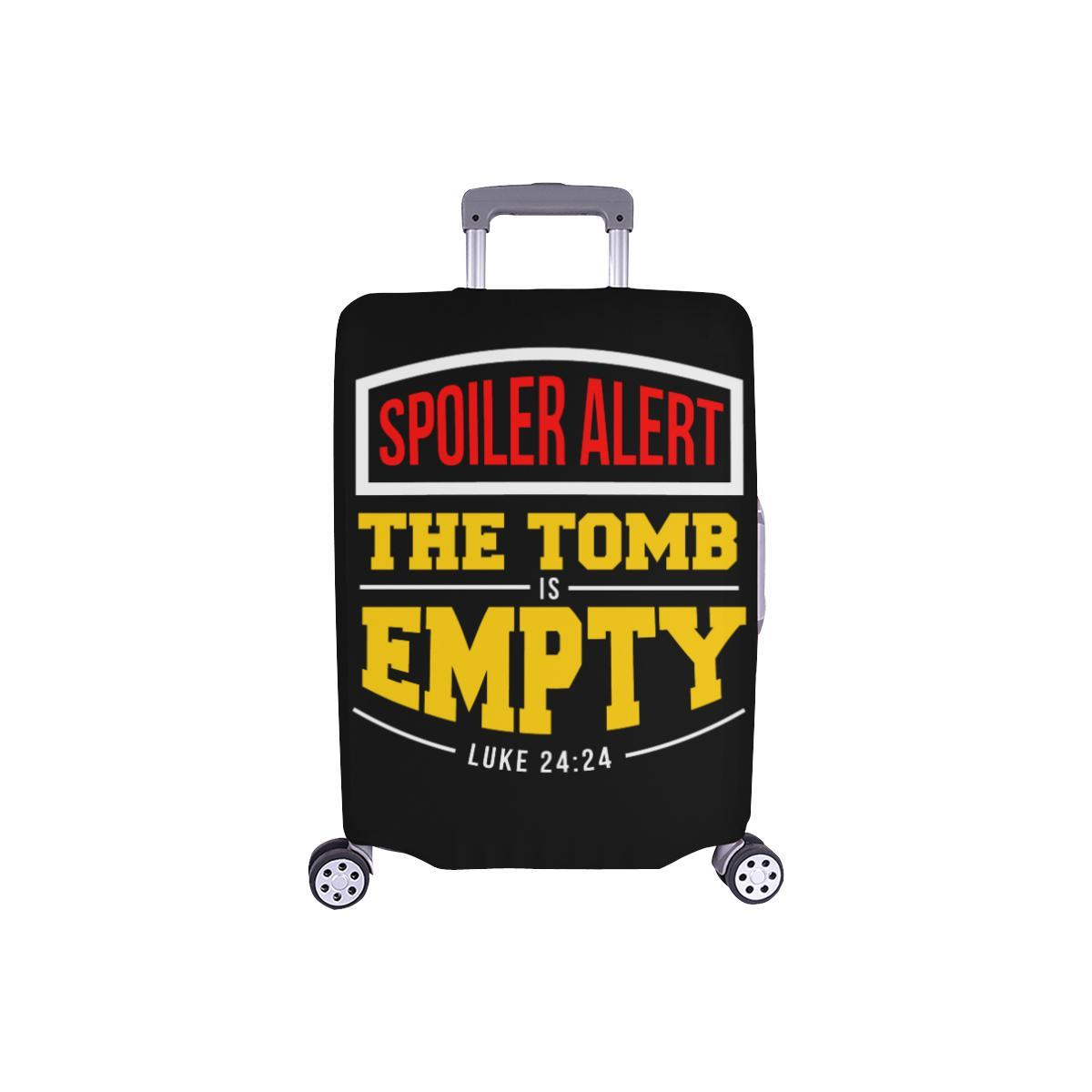 Spoiler Alert Tomb Is Empty Luke 24:24 Christian Travel Luggage Cover Suitcase-S-Black-JoyHip.Com