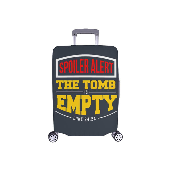 Spoiler Alert Tomb Is Empty Luke 24:24 Christian Travel Luggage Cover Suitcase-S-Grey-JoyHip.Com