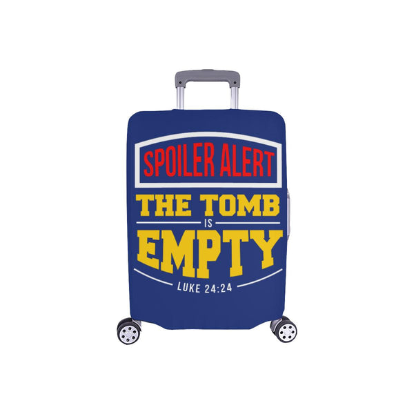 Spoiler Alert Tomb Is Empty Luke 24:24 Christian Travel Luggage Cover Suitcase-S-Navy-JoyHip.Com