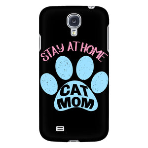 Stay At Home Cat Mom Awesome Cute Funny Mommy Gifts iPhone 6/6s/7/7s/8 Plus Case-Phone Cases-Galaxy S4-JoyHip.Com