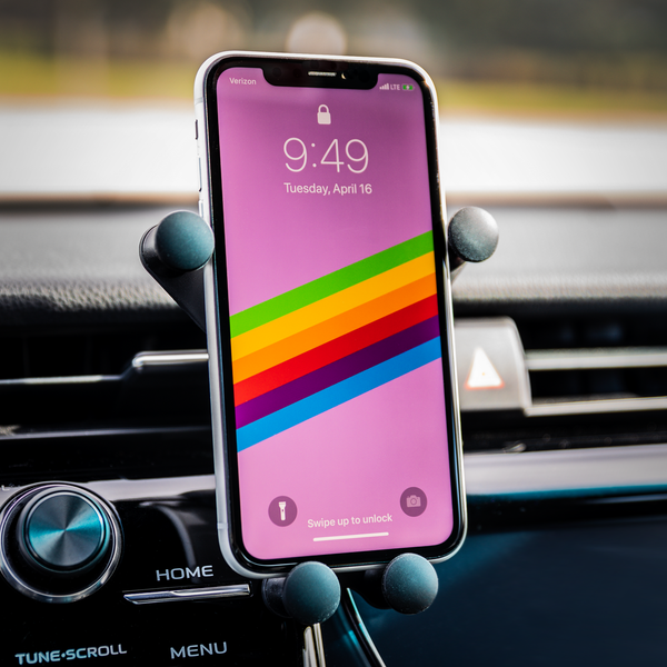 Straight Outta Chemo Breast Cancer Awareness Qi Wireless Car Charger Mount Gift-Gravitis Car Charger-Gravitis - Wireless Car Charger-JoyHip.Com