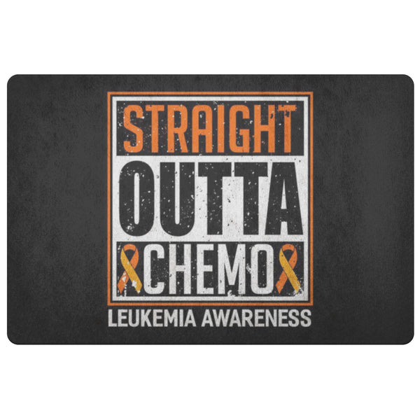 Straight Outta Chemo Orange Leukemia Cancer 18X26 Thin Indoor Door Mat Entryway-Doormat-Black-JoyHip.Com