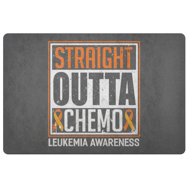 Straight Outta Chemo Orange Leukemia Cancer 18X26 Thin Indoor Door Mat Entryway-Doormat-Grey-JoyHip.Com