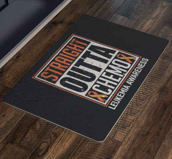 Straight Outta Chemo Orange Leukemia Cancer 18X26 Thin Indoor Door Mat Entryway-Doormat-JoyHip.Com