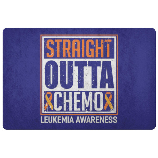 Straight Outta Chemo Orange Leukemia Cancer 18X26 Thin Indoor Door Mat Entryway-Doormat-Navy-JoyHip.Com