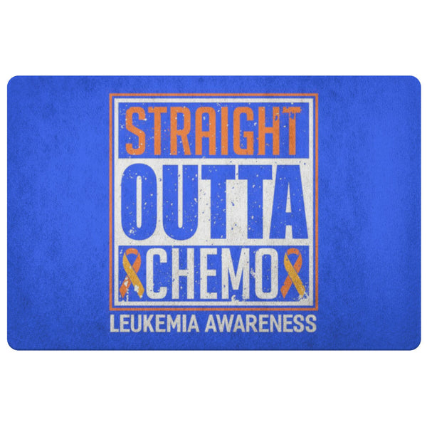 Straight Outta Chemo Orange Leukemia Cancer 18X26 Thin Indoor Door Mat Entryway-Doormat-Royal Blue-JoyHip.Com