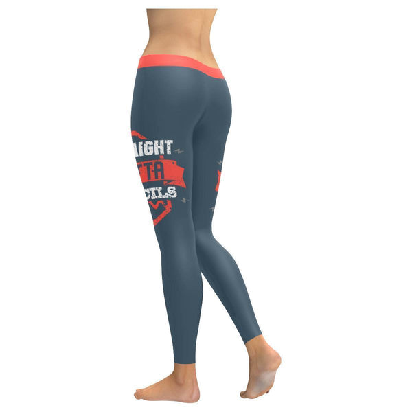 Straight Outta Pencils Meaningful Funny Teacher Gift Ideas UPF40 Womens Leggings-JoyHip.Com