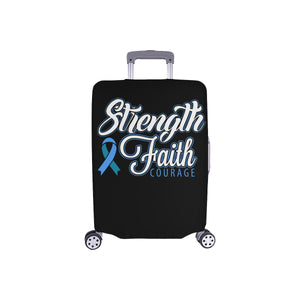 "Strength Faith Courage Travel Luggage Cover Suitcase Protector 18""-28"" Baggage-S-Black-JoyHip.Com"