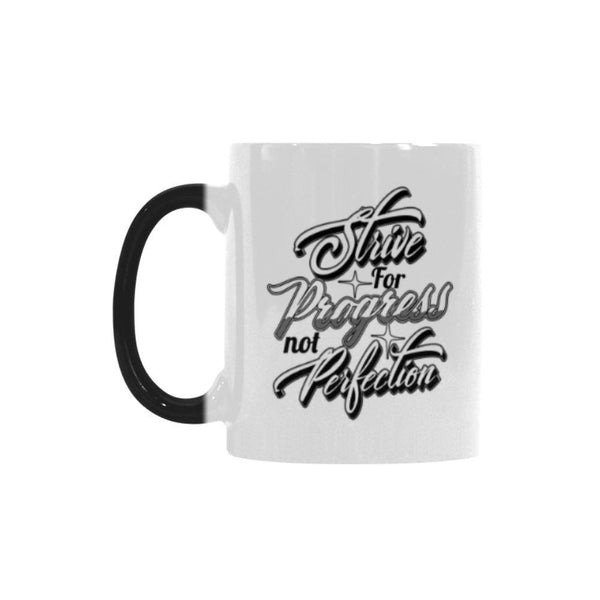 Strive For Progress Not Perfection V2 Inspirational Motivational Quotes Color Changing/Morphing 11oz Coffee Mug-Morphing Mug-One Size-JoyHip.Com